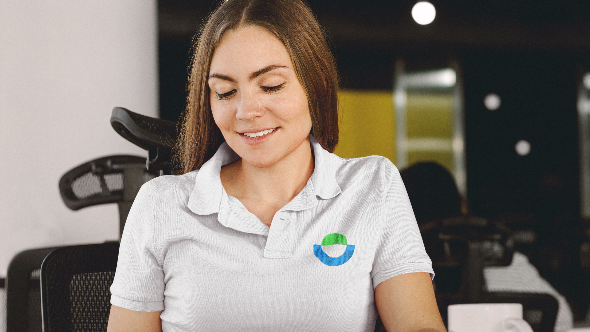 branded polo shirt from a branding package