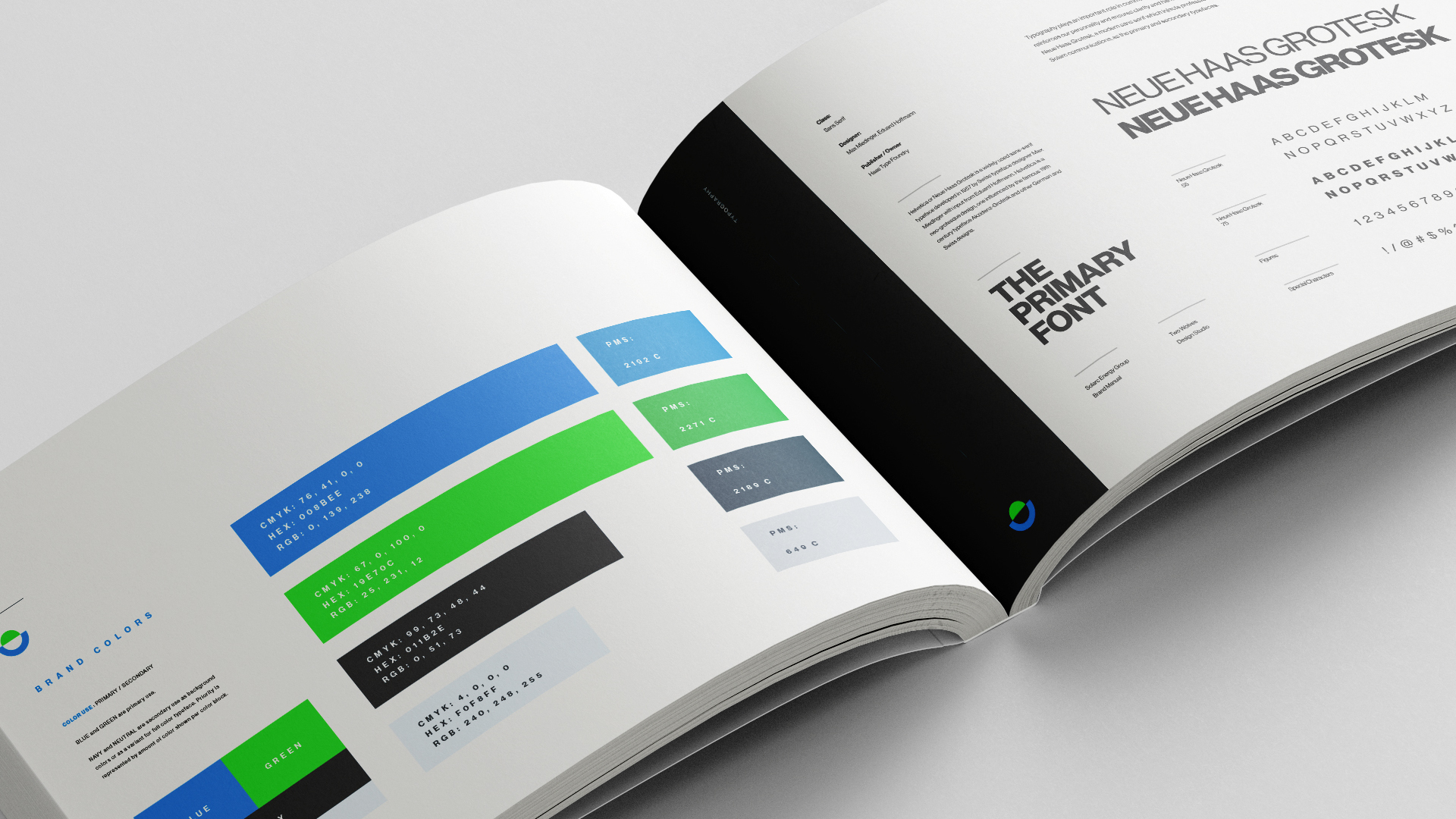 example of brand style guides from a branding package