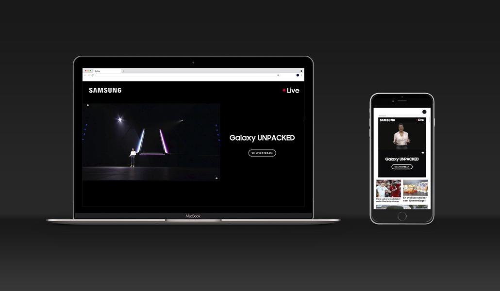 Livelansering av Samsung Galaxy S10