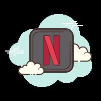 Netflix cloud computing icon
