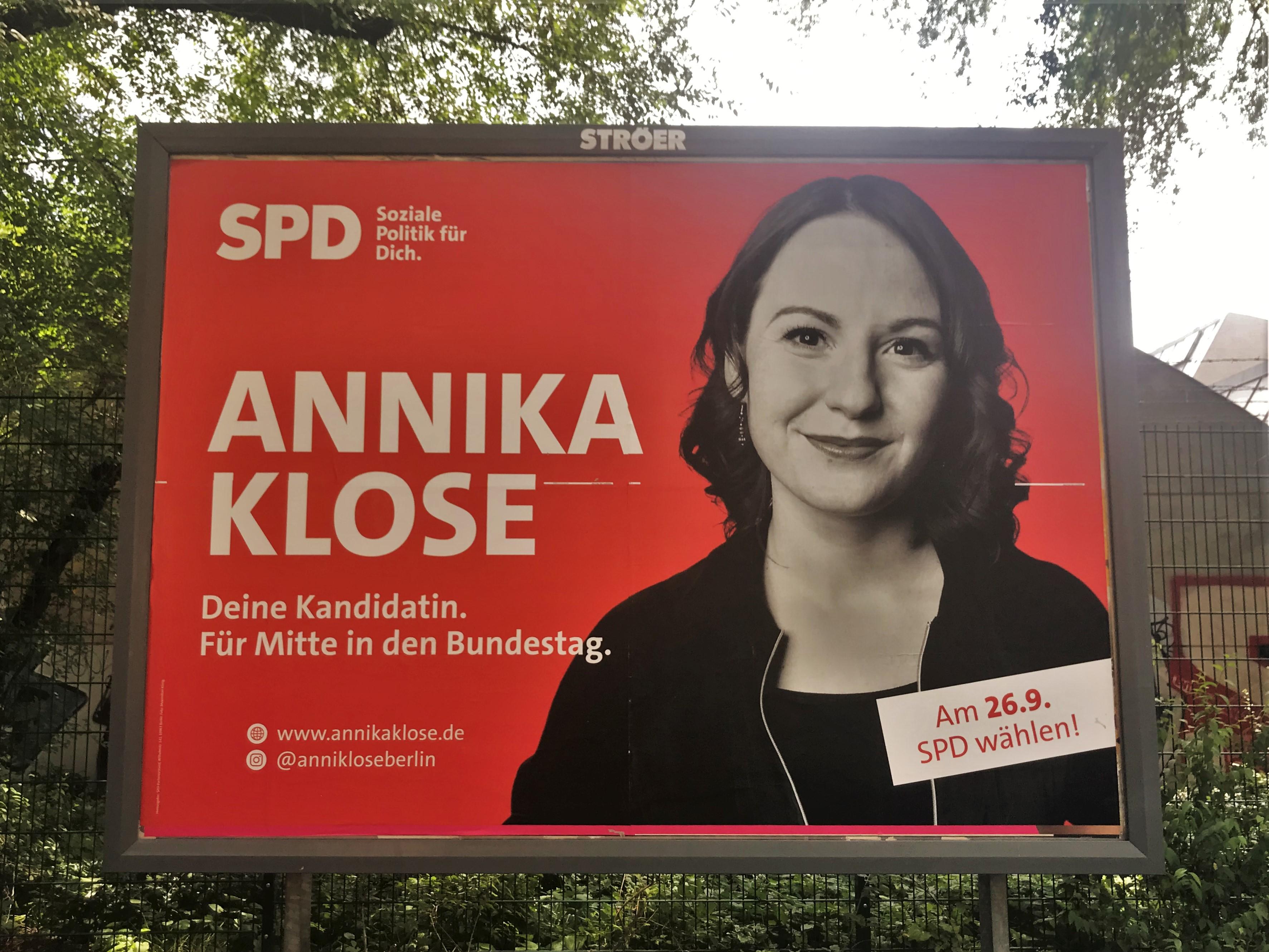 Großplakat von Annika Klose