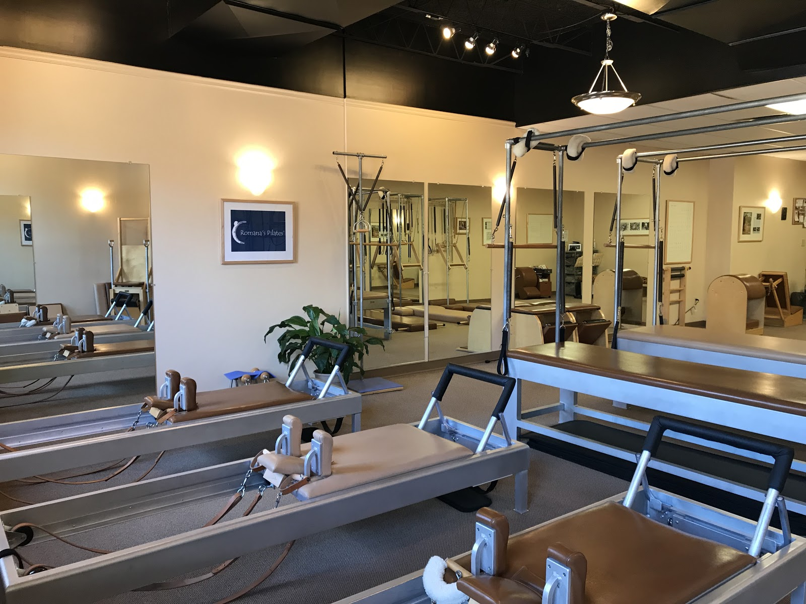 shot of a large array of equipment at Touchstone Pilates