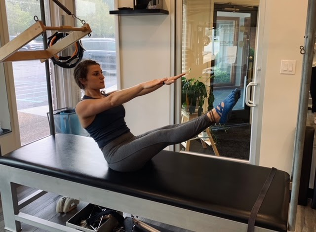 Student performing Pilates at Touchstone Pilates