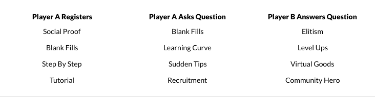 game mechanics brainstorming