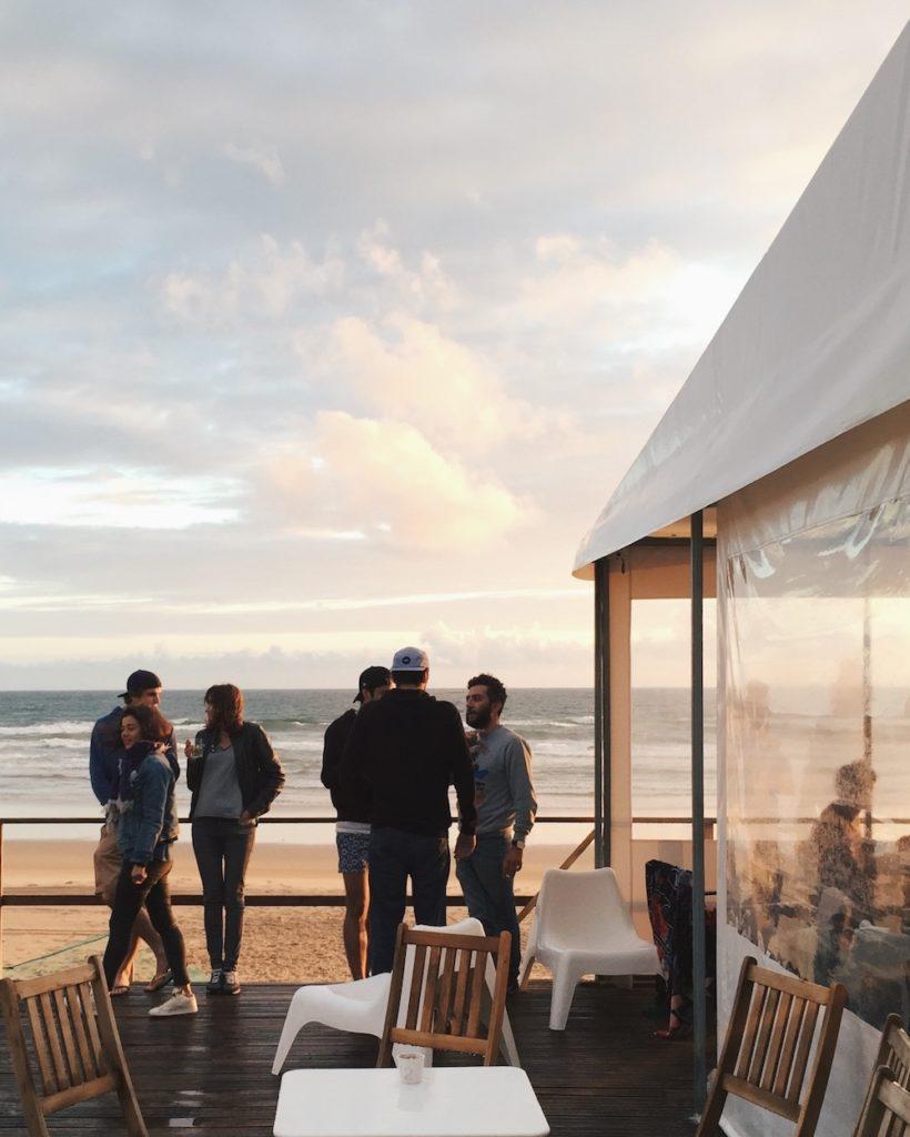 company retreat activity beach