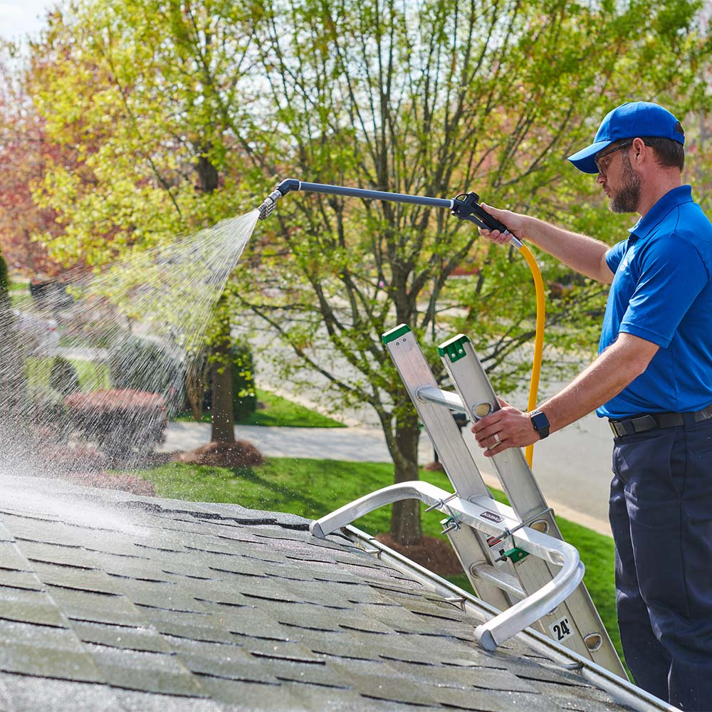 Roof cleaning by True Clean Power Wash and Seal
