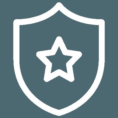 Guaranteed shield with star icon