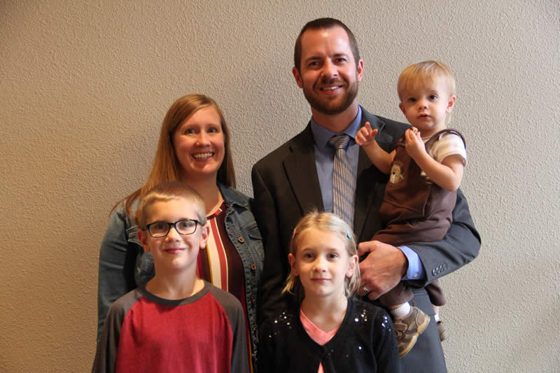 Pastor David Franz and his family