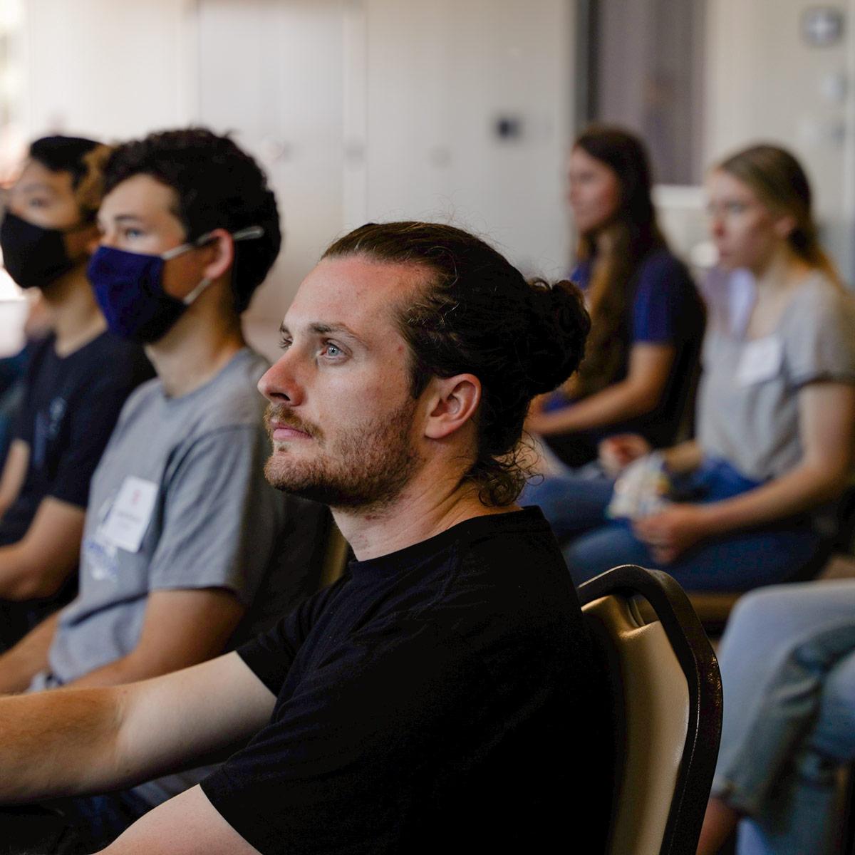 Orientation - Man focused on speaker during Edge Orientation