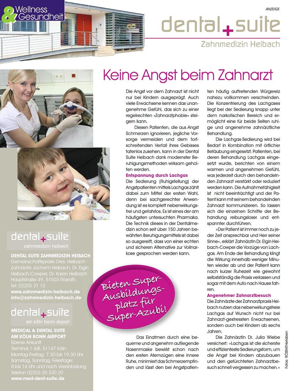 Z-MVZ dental suite - Pressemitteilung: Keine Angst beim Zahnarzt