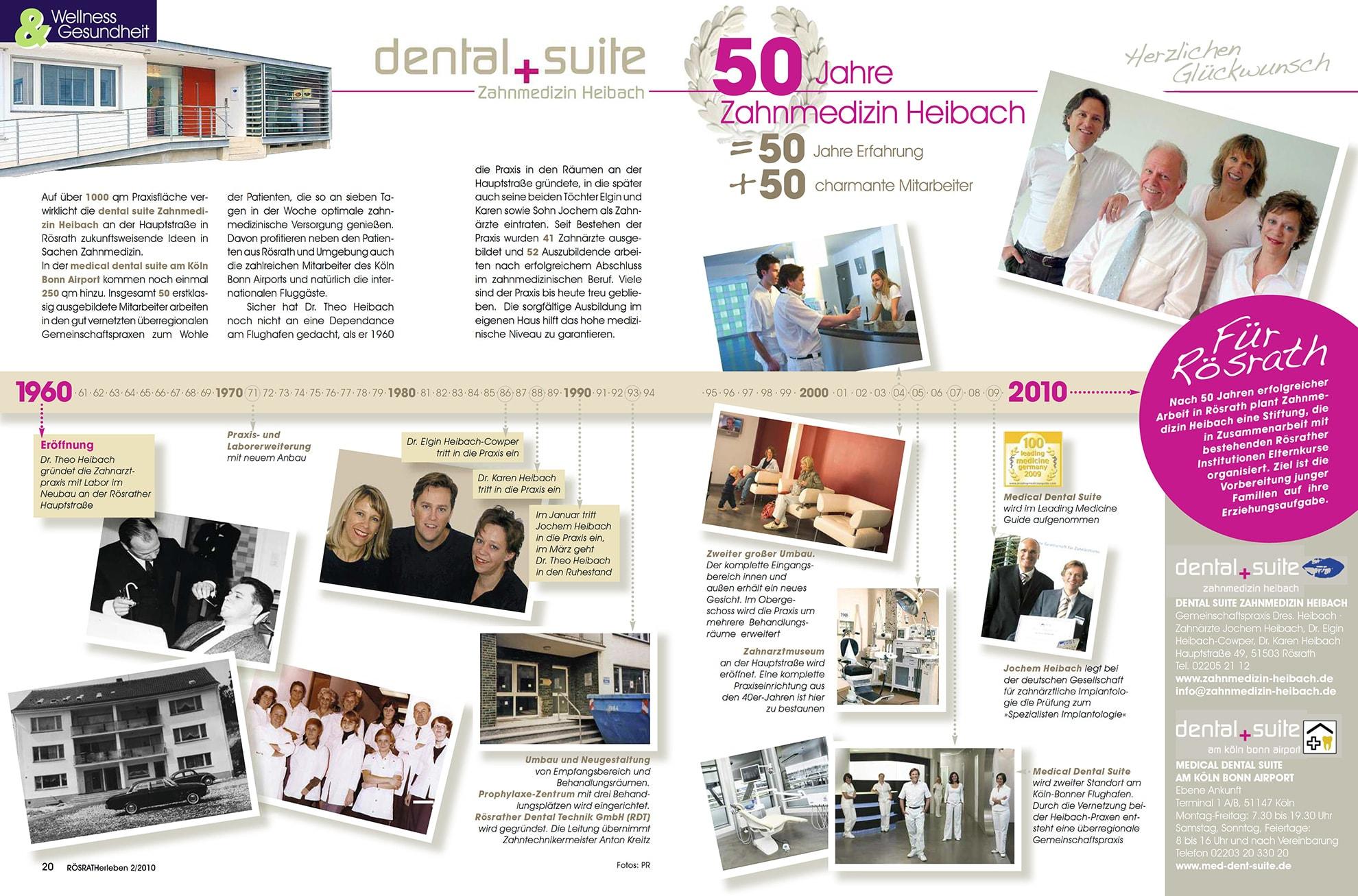 Z-MVZ dental suite - Pressemitteilung: 50 Jahre Zahnmedizin Heibach