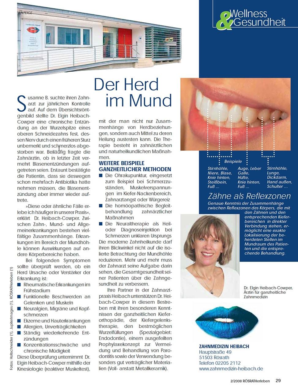Z-MVZ dental suite - Pressemitteilung: Der Herd im Mund