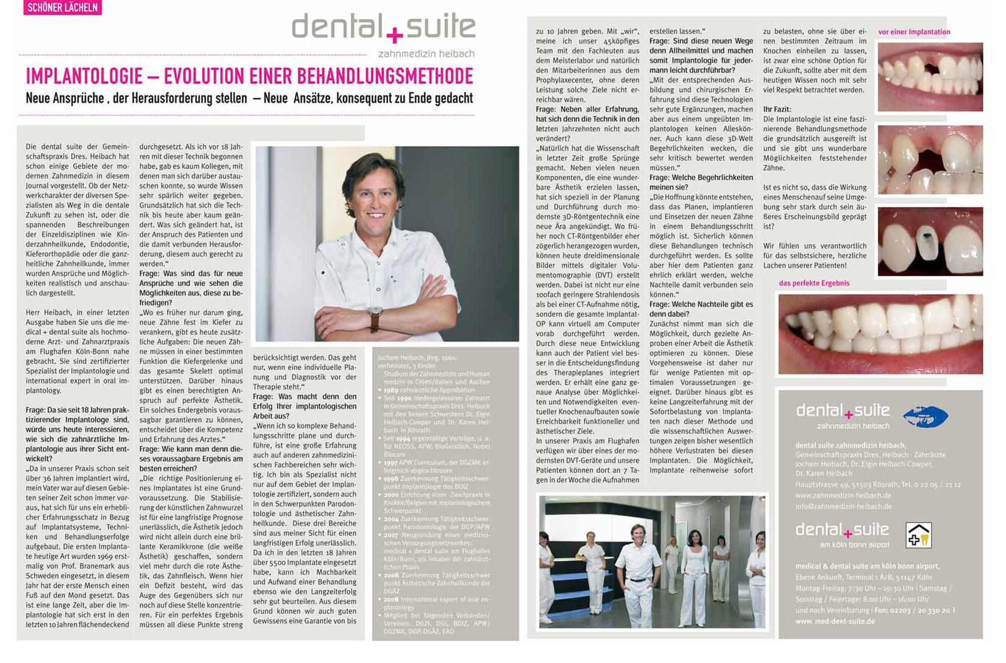 Z-MVZ dental suite - Pressemitteilung: Implantologie - Evolution einer Behandlungsmethode