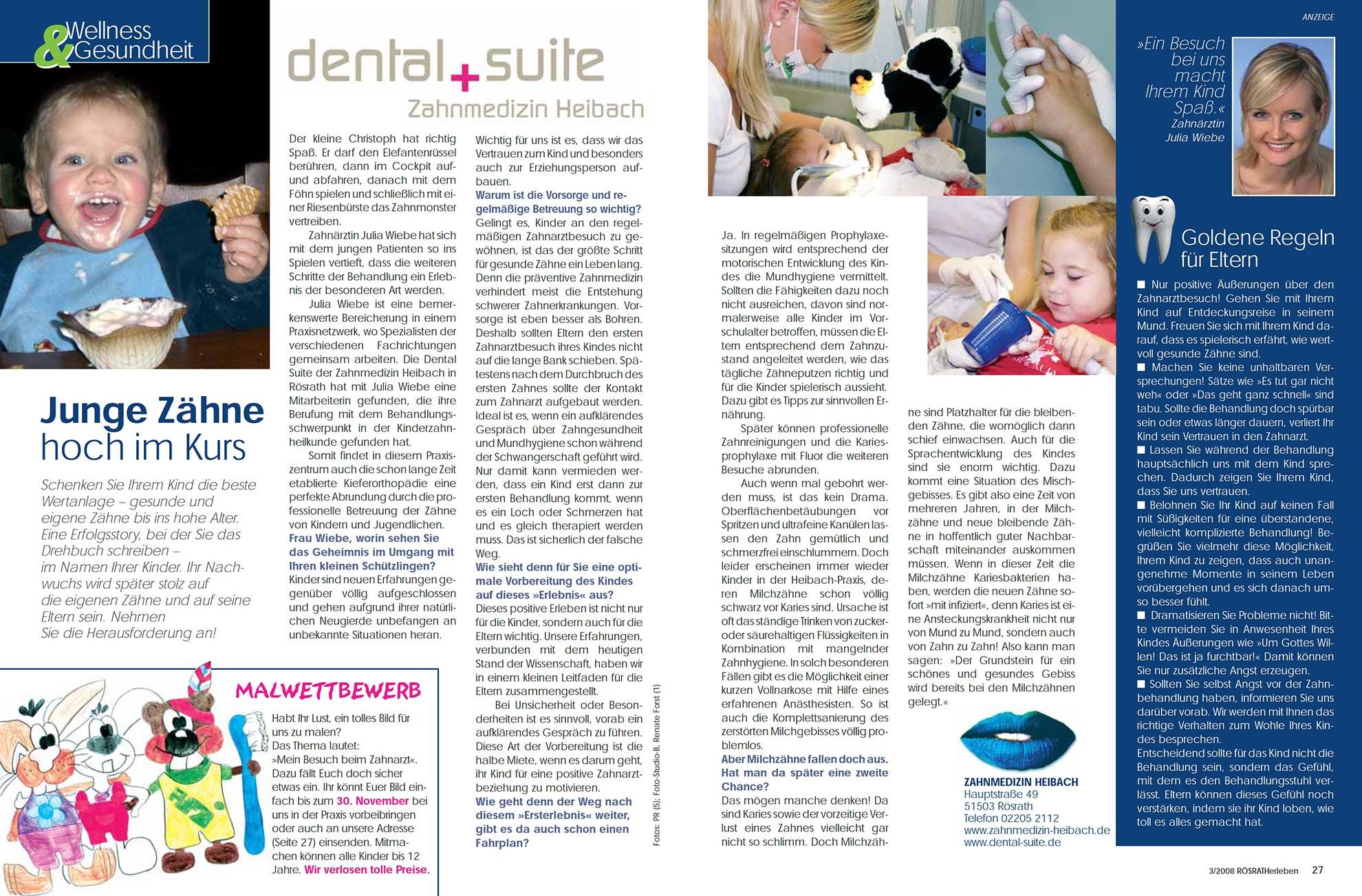 Z-MVZ dental suite - Pressemitteilung: Junge Zähne hoch im Kurs