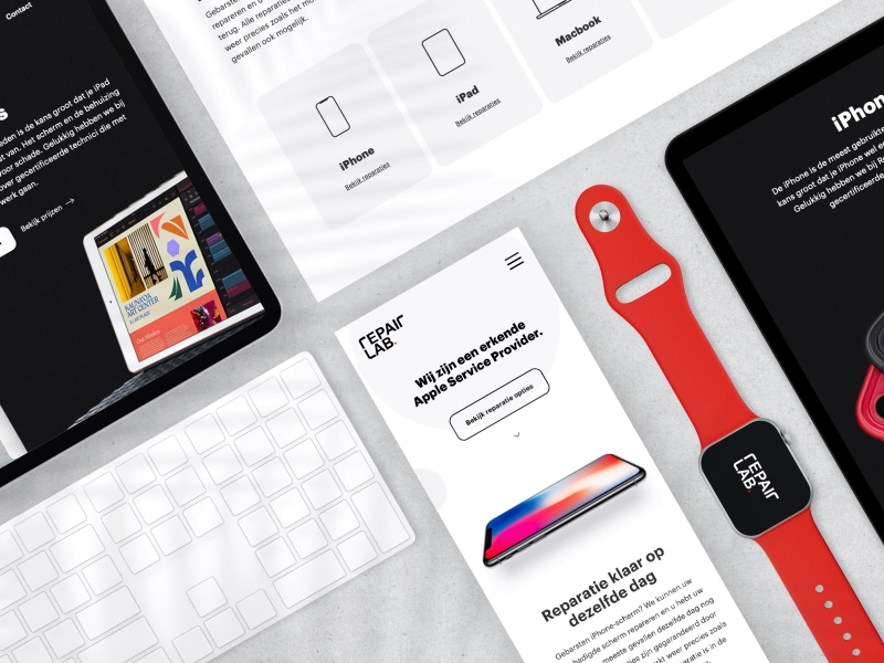 Repairlab Brand Identity and Website Design