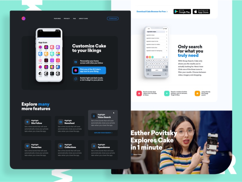 Cakebrowser Website Design