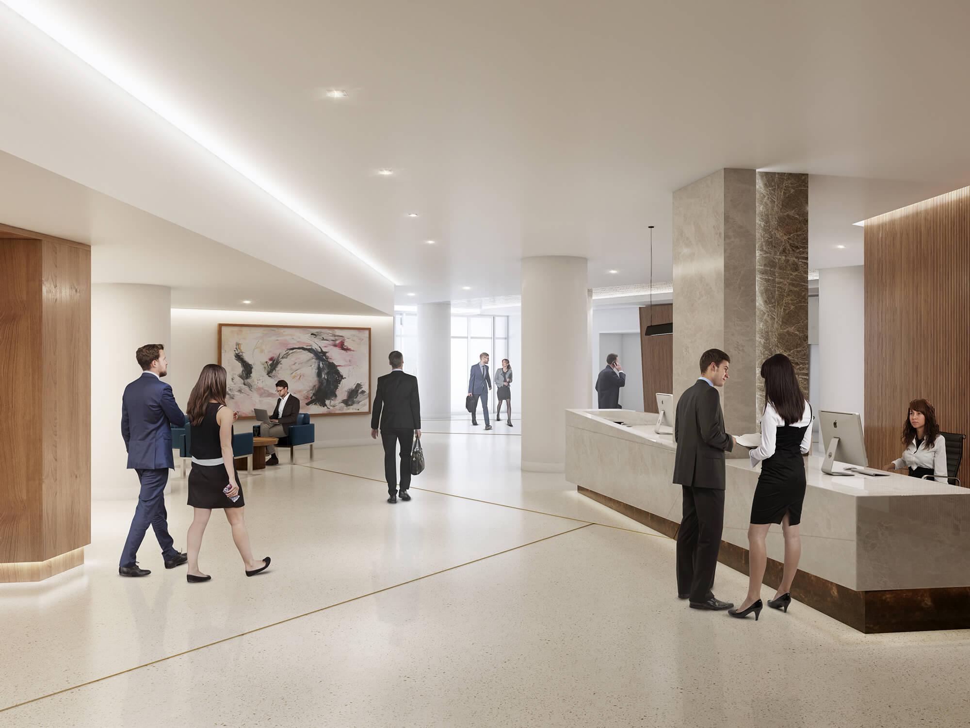 High-End, Dedicated Office Lobby
