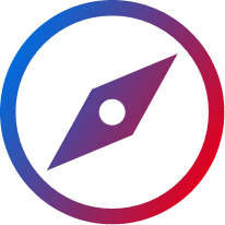 gradient compass icon