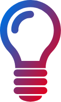 gradient lightbulb icon