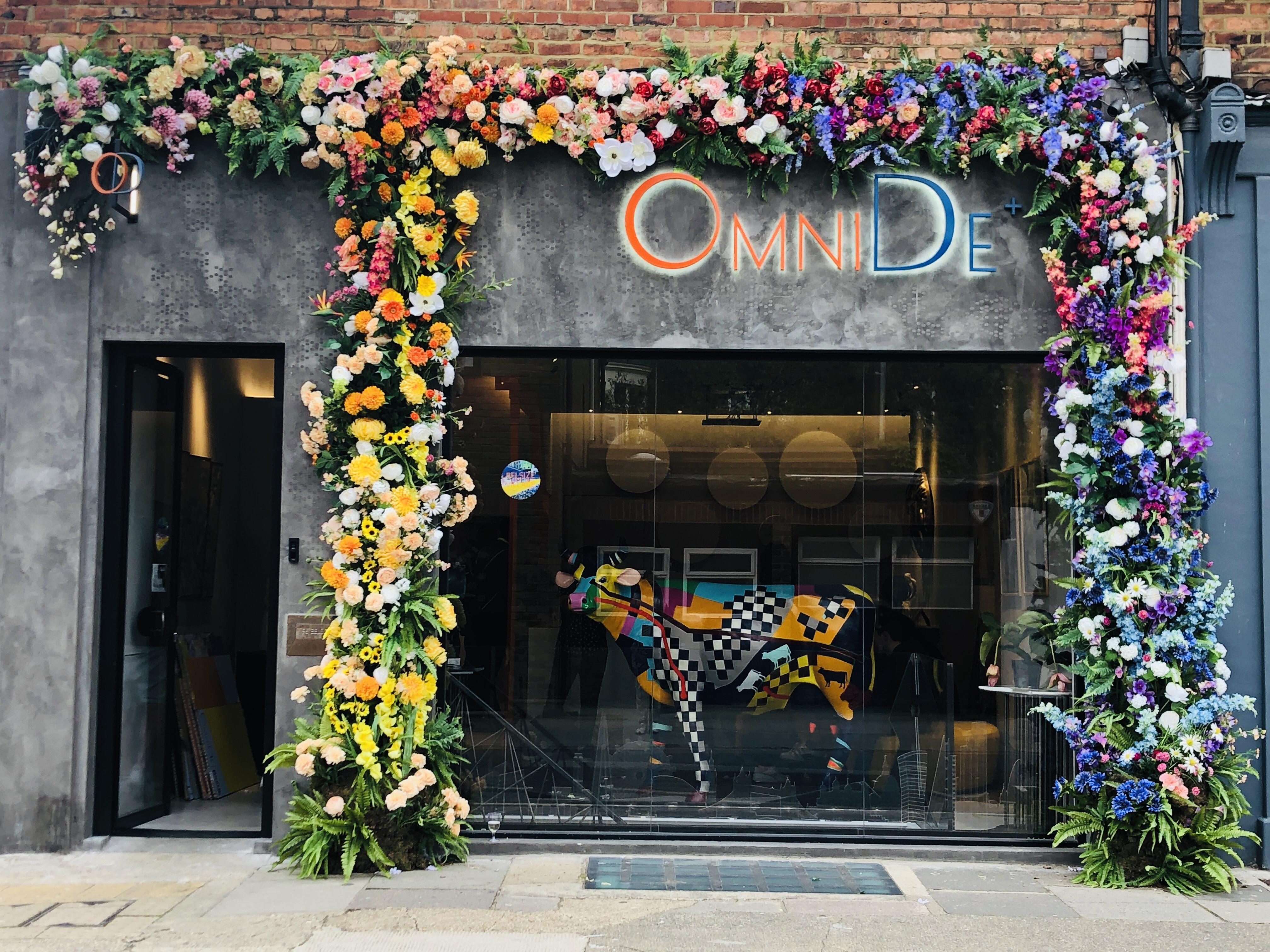 Floral installation, Belsize Park, London