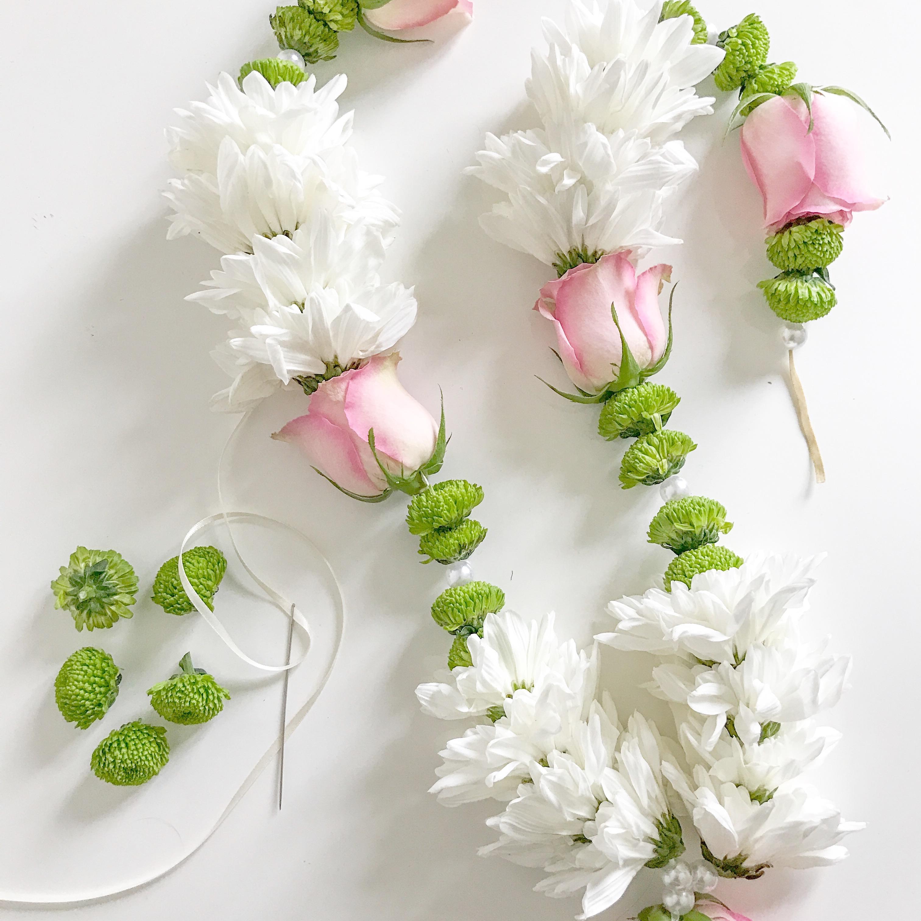 Traditional flower garlands