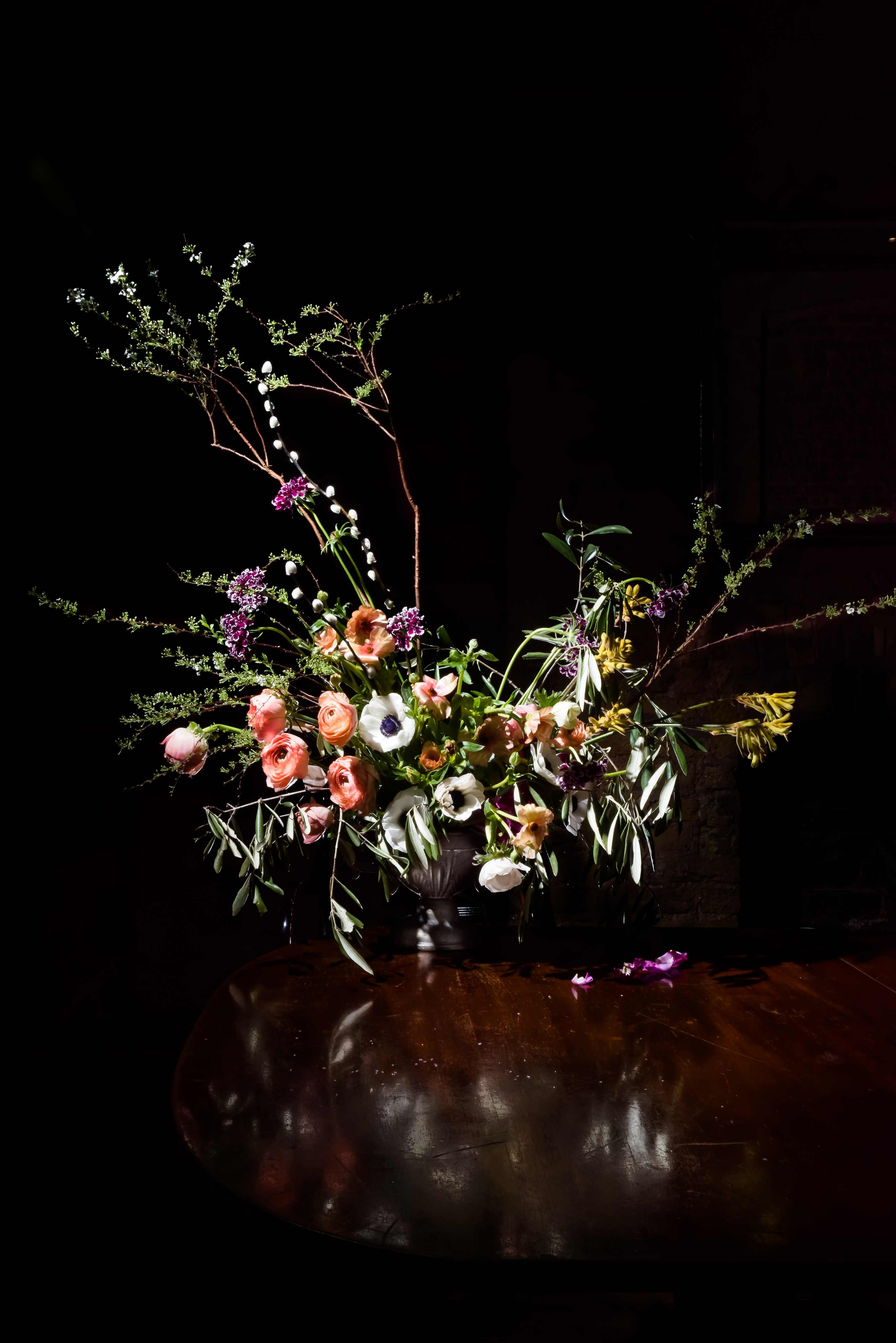Luxury table centrepiece flowers