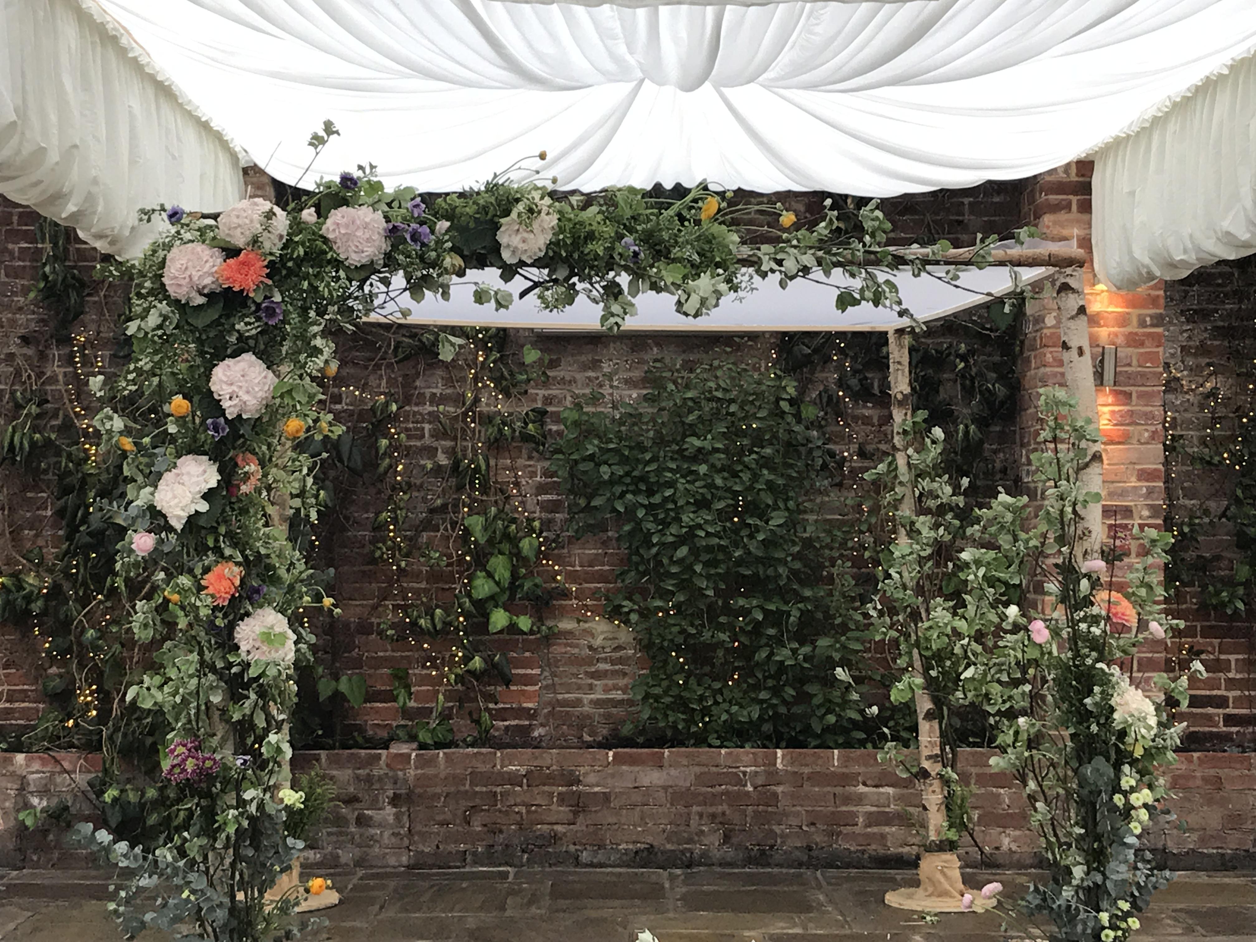 Natural style Chuppah flower decor
