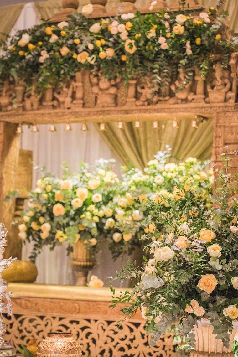 Mandap flowers, London, Intercontinental 02 hotel