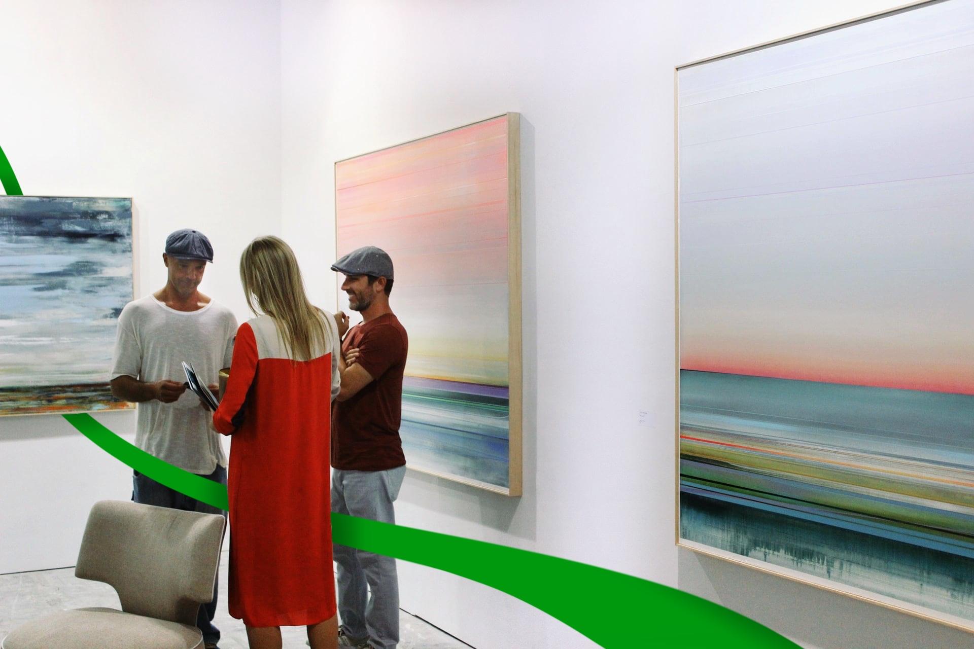 Conversation in an art gallery