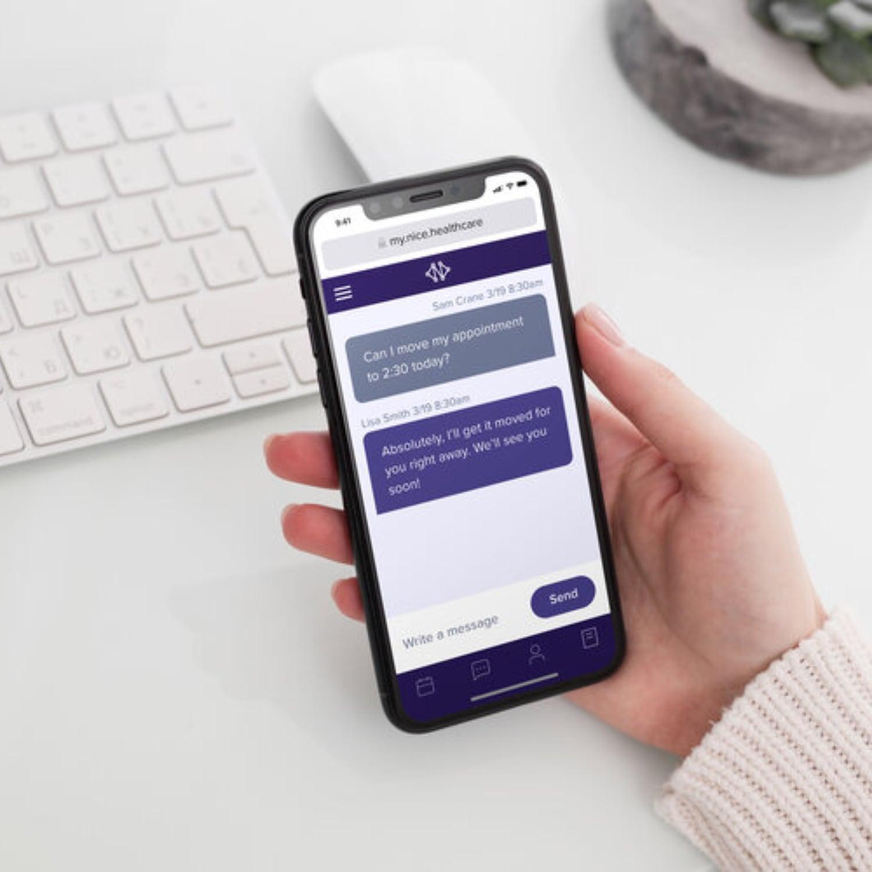 Nice Healthcare App Demo in Hand