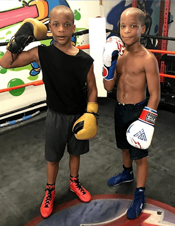 """The 11-year-old twins Steven and Daniel Grandy, better known as """"The Grandy Twins,"""" showed off their boxing skills in Philadelphia on Tuesday, as their father spoke about their passion for pugilism."""