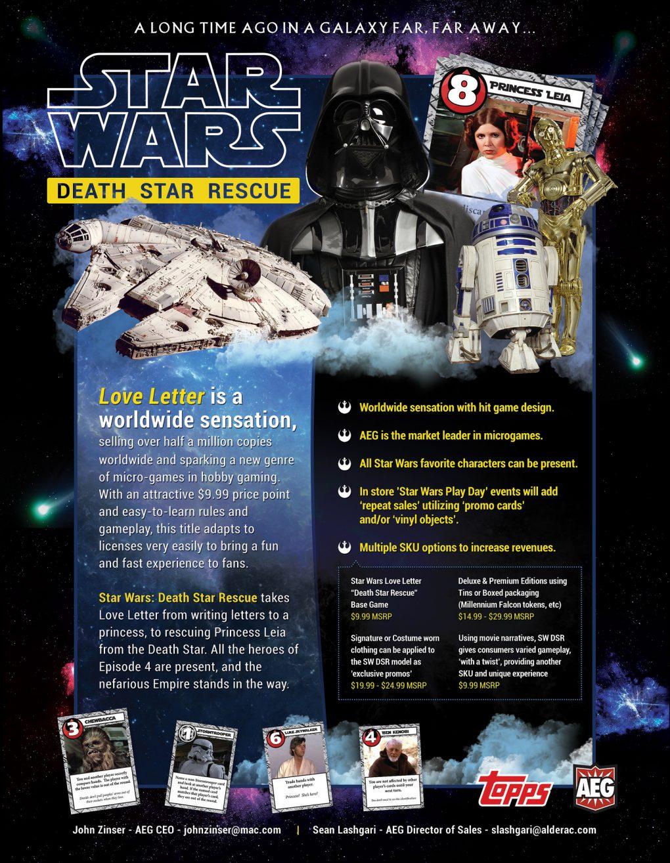 Star Wars Death Star Rescue - Love Letter