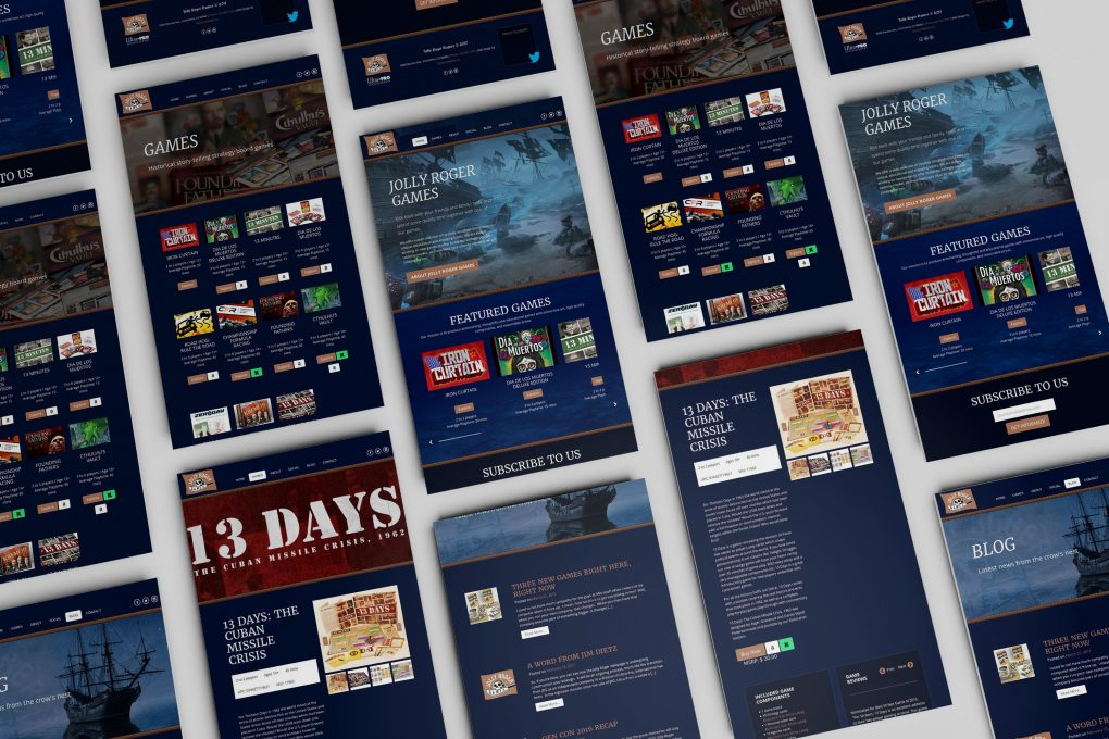 Jolly Roger Games Website Design