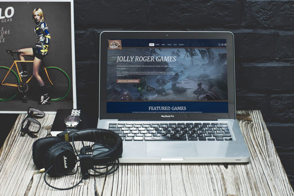 Jolly Roger Games Website Mockup
