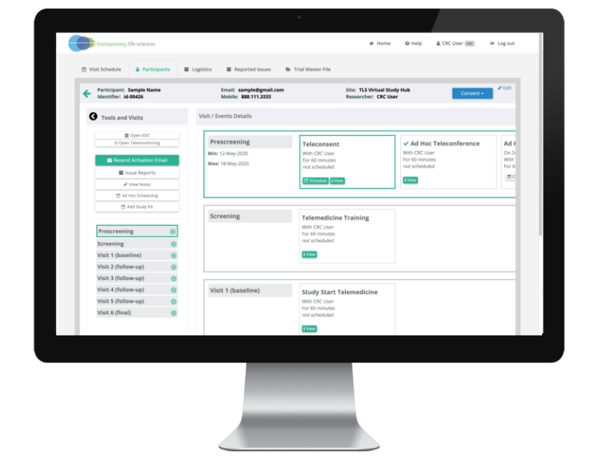 Tailor your study protocol so that you can access any module you require from one centralized clinical trial management hub.