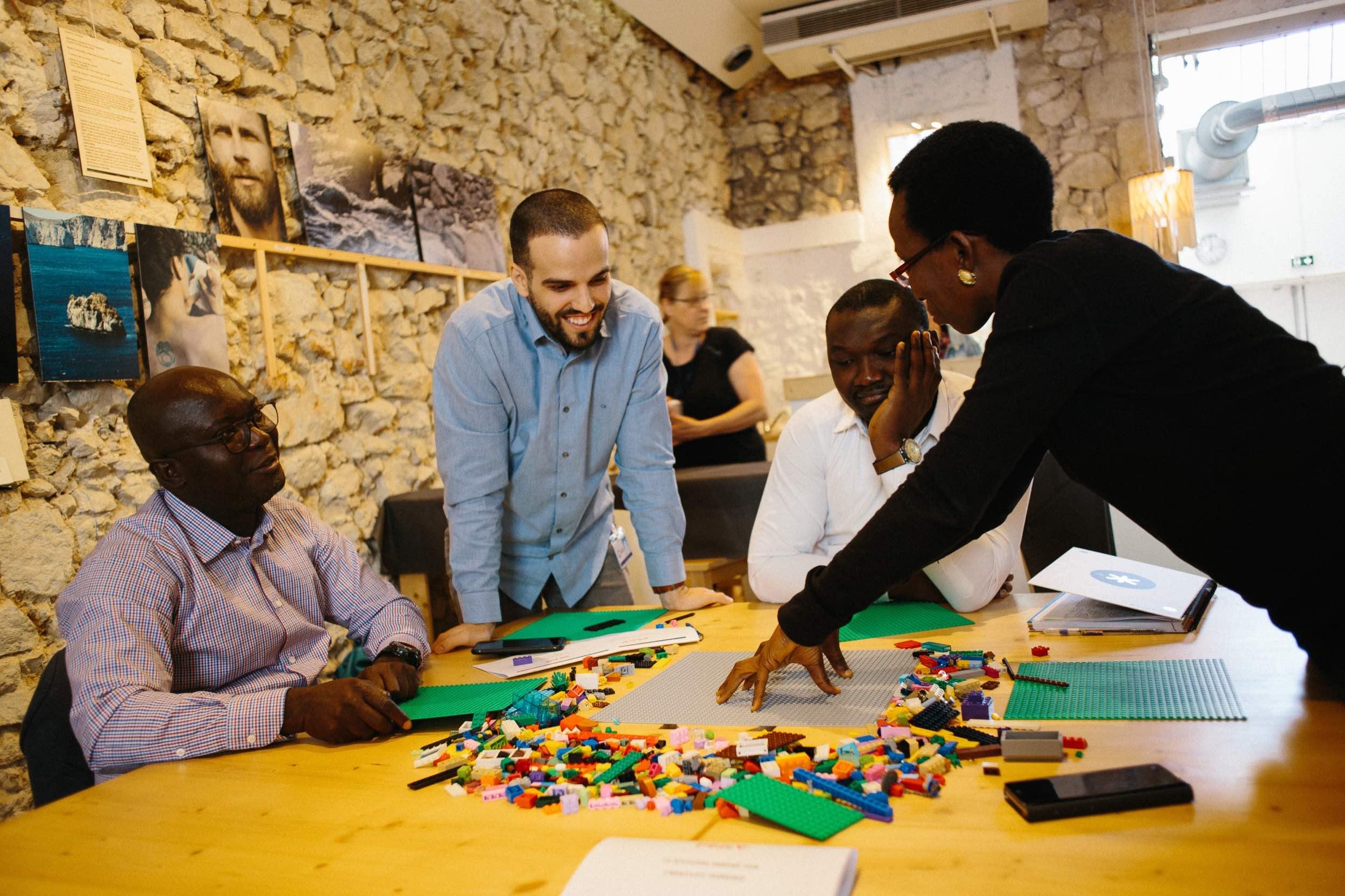 Photo de groupe pendant l'atelier