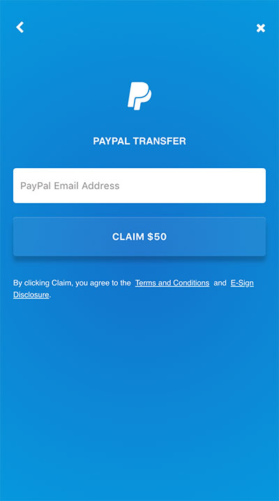 Money incentive - PayPal