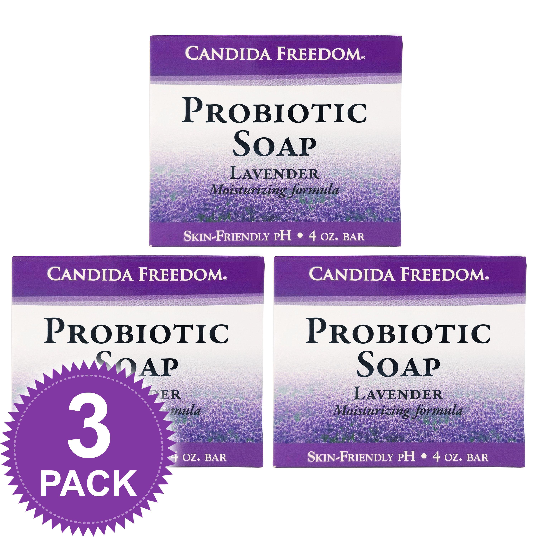Candida Freedom 3 Pack Lavander Probiotic Soap