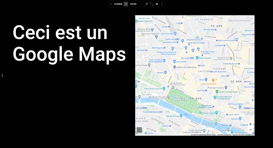 Intégration d'un Google Maps sur Ludus.one
