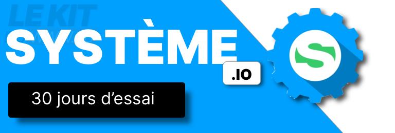 Bannière publicitaire Systeme.io