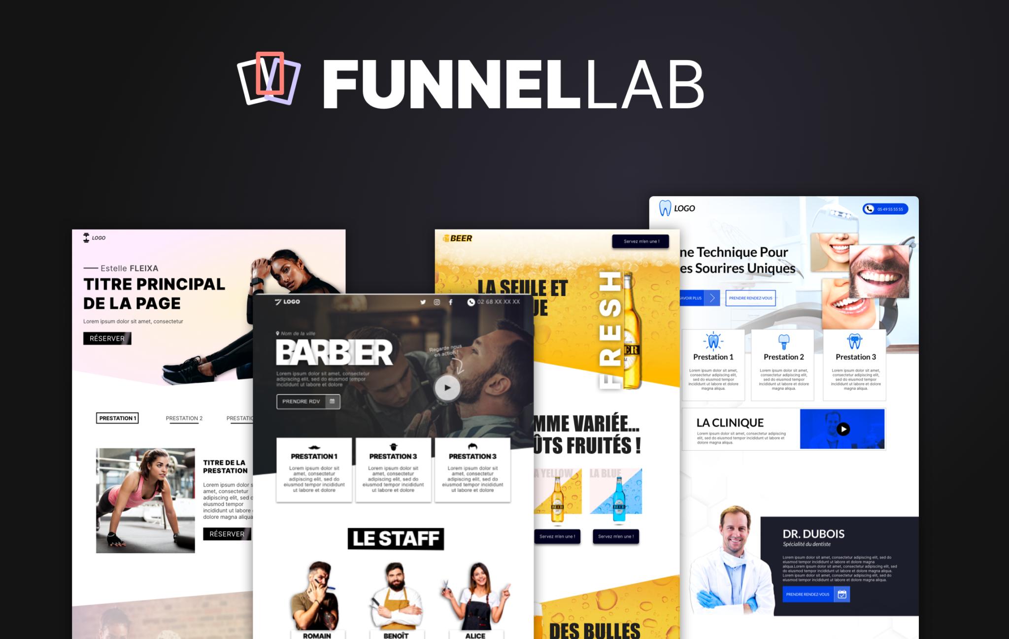 Bannière de publicité pour des pages de vente créé par l'agence web Funnel Lab