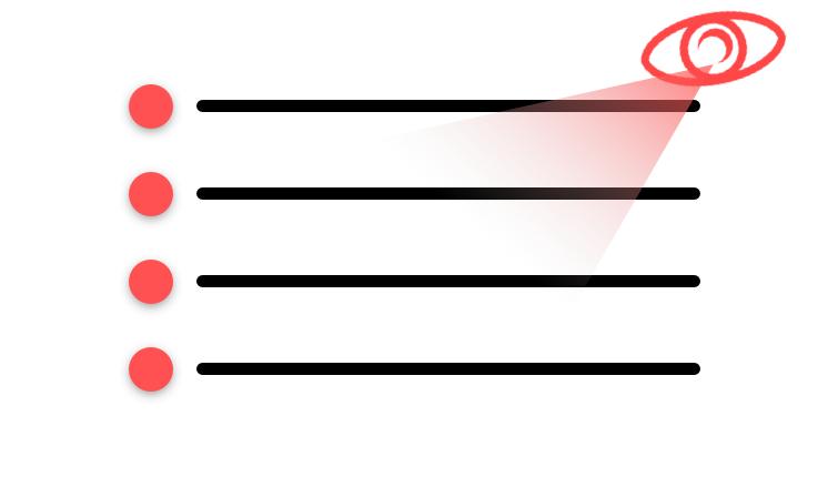 Schéma de bullet point