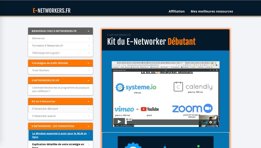 Exemple d'un espace membre sur Clickfunnels