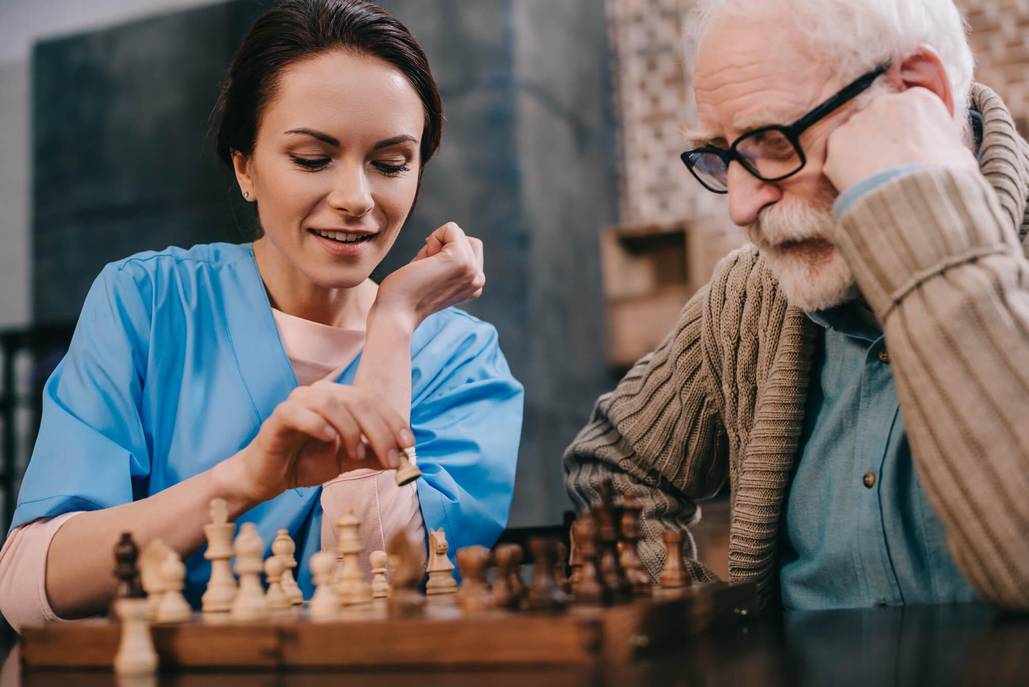 playing chess Senior Living Communities Illinois