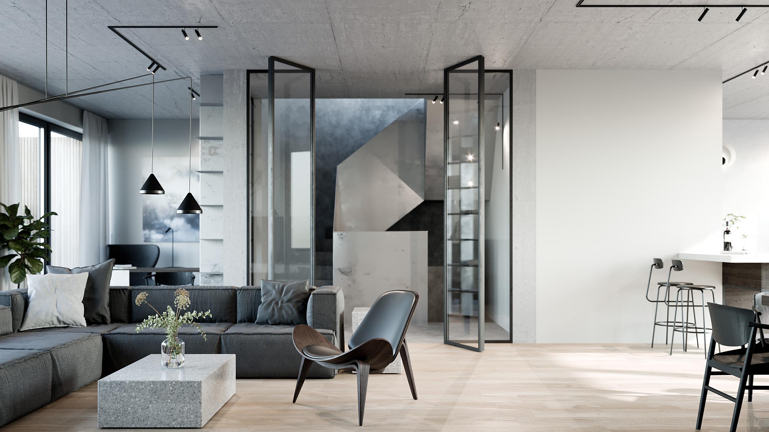 SMLXL - Pod Třebešínem - interiér rodinného domu