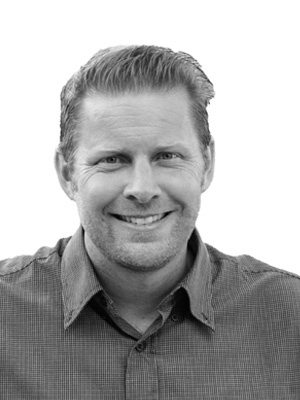 Gavin McClellan black and white headshot