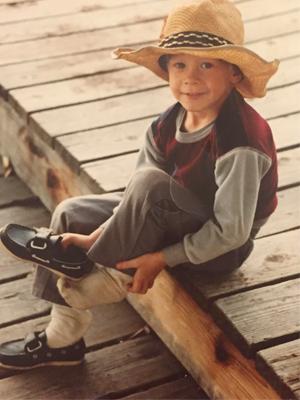 Lance Evanson childhood photo