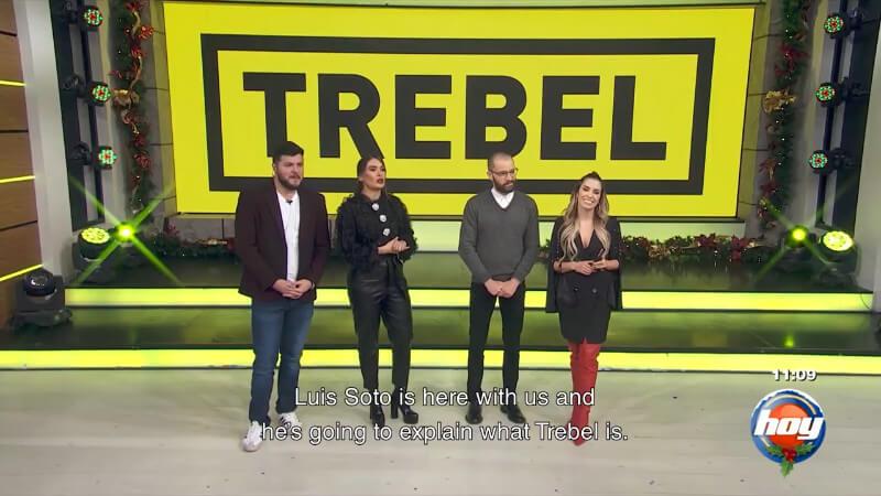 Screenshot of TREBEL TV broadcast