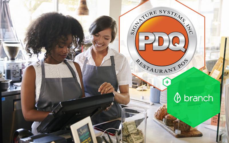 Branch + PDQ: Instant, Digital Tips & Mileage for Restaurant Franchises