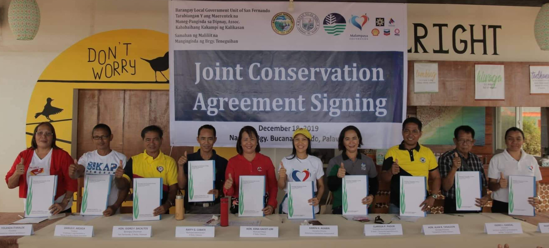 Joint conservation agreement signing